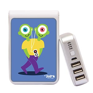 Quirk Tech QT1004 QuirkBot Power Bank 10400 mAh White