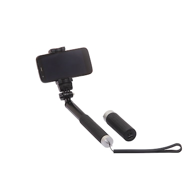 QuirkTech Qstik 1010 Selfie Sticks for All Smartphones With 2800 mAh Power Bank Black Price in India