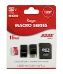 Buy Rage 16 GB Class 10 MicroSDHC 4 in 1 Memory Card (Red & White) Online