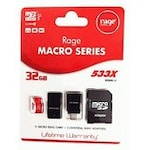 Buy Rage 32 GB Class 10 MicroSDHC 4 in 1 Memory Card (Red & White) Online