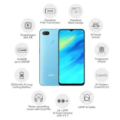 Realme 2 Pro (Ice Lake, 4GB RAM, 64GB) Price in India