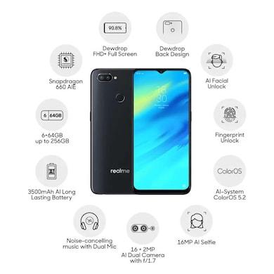 Realme 2 Pro (Black Sea, 6GB RAM, 64GB) Price in India