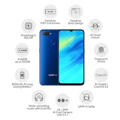 Realme 2 Pro ( Blue Ocean, 6GB RAM, 64GB) Price in India
