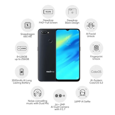 Realme 2 Pro (Black Sea, 8GB RAM, 128GB) Price in India