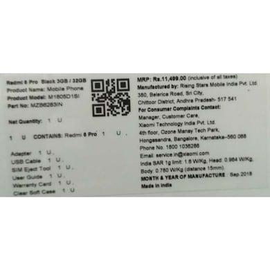 Redmi 6 Pro (Blue, 3GB RAM, 32GB) Price in India