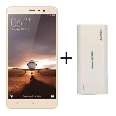 Redmi Note 3 + Pisen 10000 mAh Power Bank (Gold, 2GB RAM, 16GB) Price in India