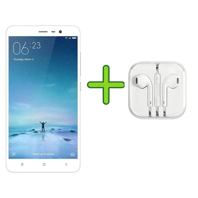 Refurbished Redmi Note 3 +Free Earphone with Mic for All Android/iPhones (Silver, 2GB RAM, 16GB) Price in India