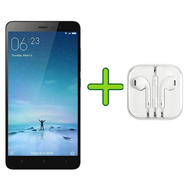 Refurbished Redmi Note 3 +Free Earphone with Mic for All Android/iPhones (Dark Grey, 3GB RAM, 32GB) Price in India