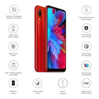 Redmi Note 7 (Ruby Red, 3GB RAM, 32GB) Price in India