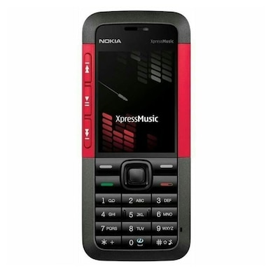 Refurbished Nokia 5310, 2 MP Camera, MP3/Video Player, MicroSD Slot (Red) Price in India