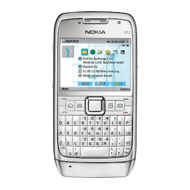 Refurbished Nokia E71 (White, 128MB RAM) Price in India