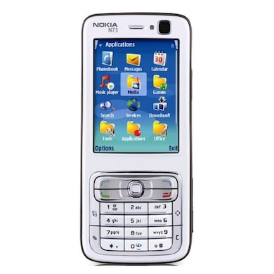 Refurbished Nokia N73,2.4 Inch Display,Camera (White and Black) Price in India