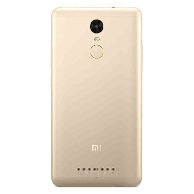 Refurbished Redmi Note 3 +Free Earphone with Mic for All Android/iPhones (Gold, 3GB RAM, 32GB) Price in India