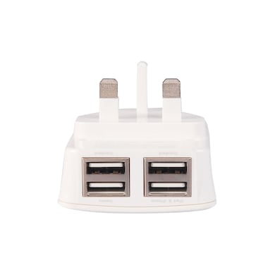 Rissachi YD48X-LD 4 USB Port Charger Adaptor White Price in India