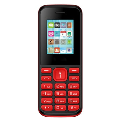 Rocktel W9 Digital Camera, FM, Bluetooth and Dual Sim (Black and Red) Price in India