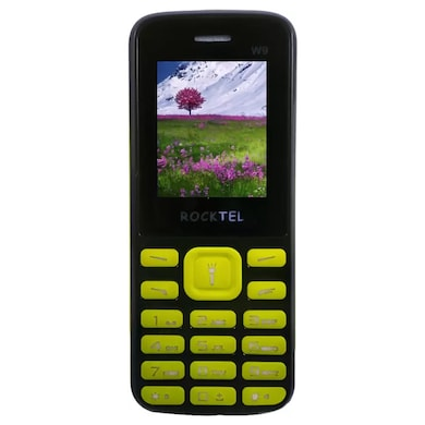 Rocktel W9 Digital Camera, FM, Bluetooth and Dual Sim (Black and Yellow) Price in India