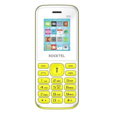 Rocktel W9 Digital Camera, FM, Bluetooth and Dual Sim (White and Green) Price in India