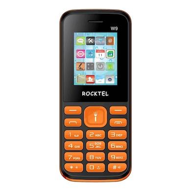 Rocktel W9 Digital Camera, FM, Bluetooth and Dual Sim (Black and Orange) Price in India