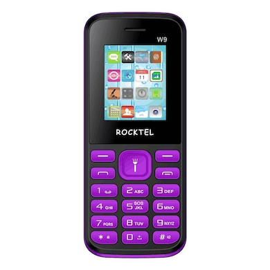 Rocktel W9 Digital Camera, FM, Bluetooth and Dual Sim (Black and Violet) Price in India