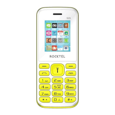Rocktel W9 Digital Camera, FM, Bluetooth and Dual Sim (White and Yellow) Price in India