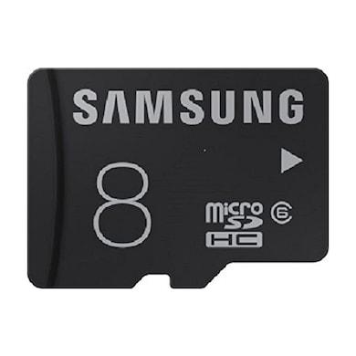 Samsung 8 GB Class 6 microSDHC Memory Card Black Price in India
