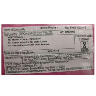 Samsung Galaxy J4 (Black, 2GB RAM, 16GB) Price in India