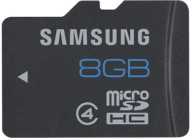 Samsung 8 GB Class 4 MicroSDHC Memory Card 8 GB Price in India