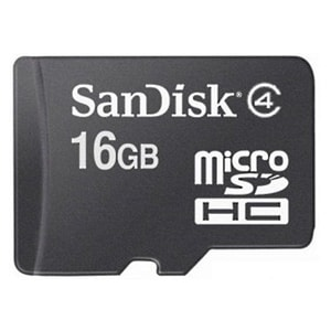 Buy SanDisk  16 GB Class 4 MicroSDHC Memory Card Online