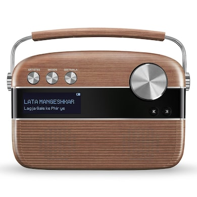 Saregama Carvaan Hindi SC02 Portable Digital Music Player With Remote Oak Wood Brown images, Buy Saregama Carvaan Hindi SC02 Portable Digital Music Player With Remote Oak Wood Brown online at price Rs. 5,699