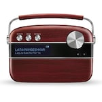 Buy Saregama Carvaan Hindi SC02 Portable Digital Music Player With Remote Cherrywood Red Online