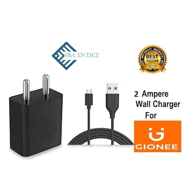 SBA Entice Fast Mobile Charger 2 AMP Adapter With Data Cable For Gionee Mobile Black Price in India