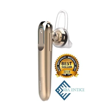 SBA Entice LB300 Mono Bluetooth Headset With Mic Gold Price in India