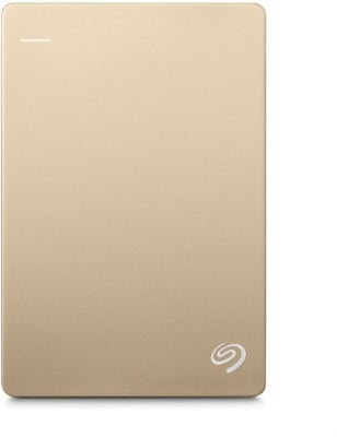 Seagate Backup Plus Slim 1 TB Portable External Hard Drive with 200GB of Cloud Storage (Gold, Mobile Backup Enabled) Price in India