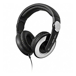 Sennheiser HD 205 II Closed Back Around Over Ear Stereo Headphone and Rotatable Ear Cup Black