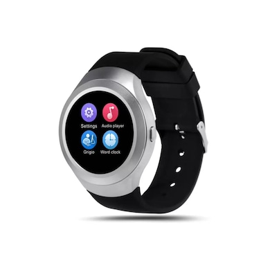 ShutterBugs AIR-01 Trendy Smartwatch Black Strap Large Price in India