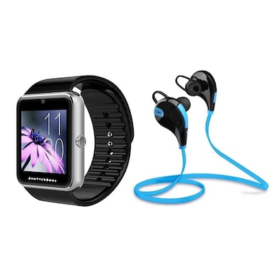 Shutterbugs Combo of SB-102 Smartwatch and Jogger BT-Headphone Multicolor Price in India