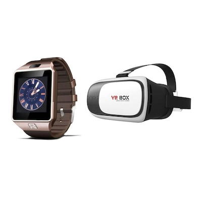 Shutterbugs Combo of VR Headset and Smartwatch For All Smartphones Multicolor Price in India