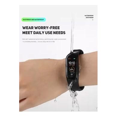 ShutterBugs M4 Smart Bracelet Activity Tracker-Black Strap Black Price in India