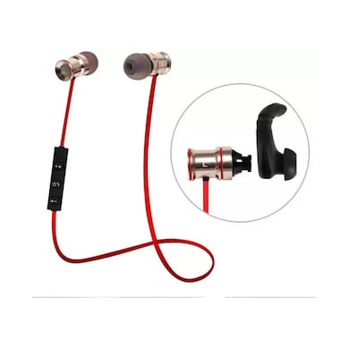 ShutterBugs Magnet Bluetooth Wireless Headset Sport Running with Mic Red Price in India