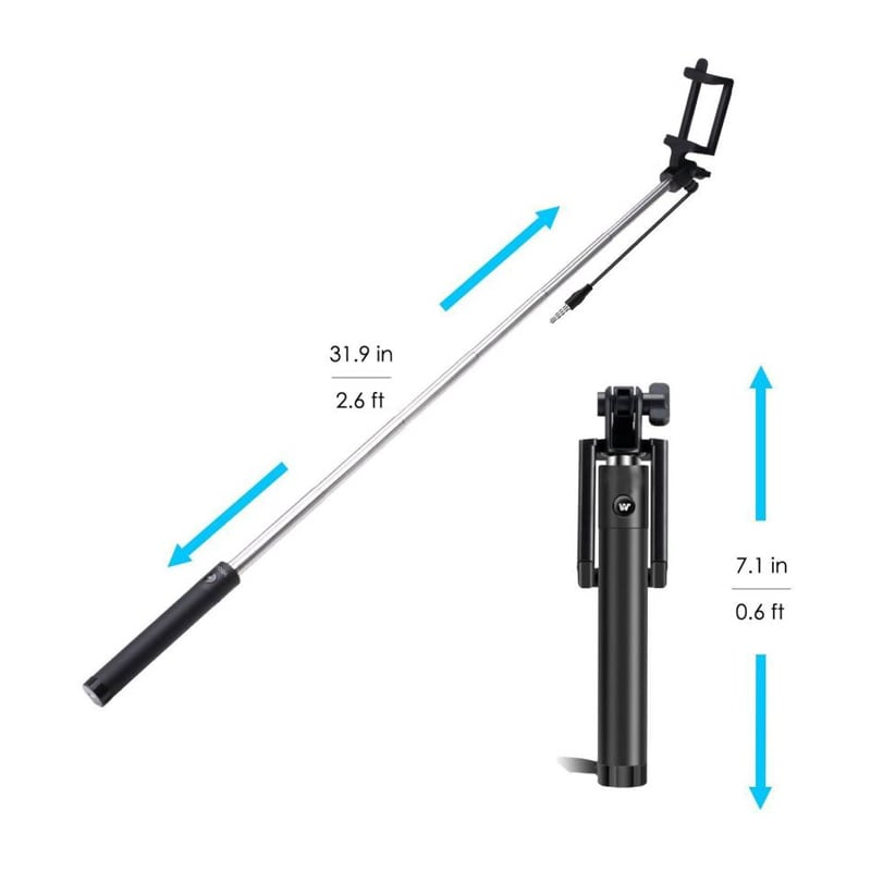 Shutterbugs Premium Selfie Stick Monopod With Easy Aux Black images, Buy Shutterbugs Premium Selfie Stick Monopod With Easy Aux Black online at price Rs. 246