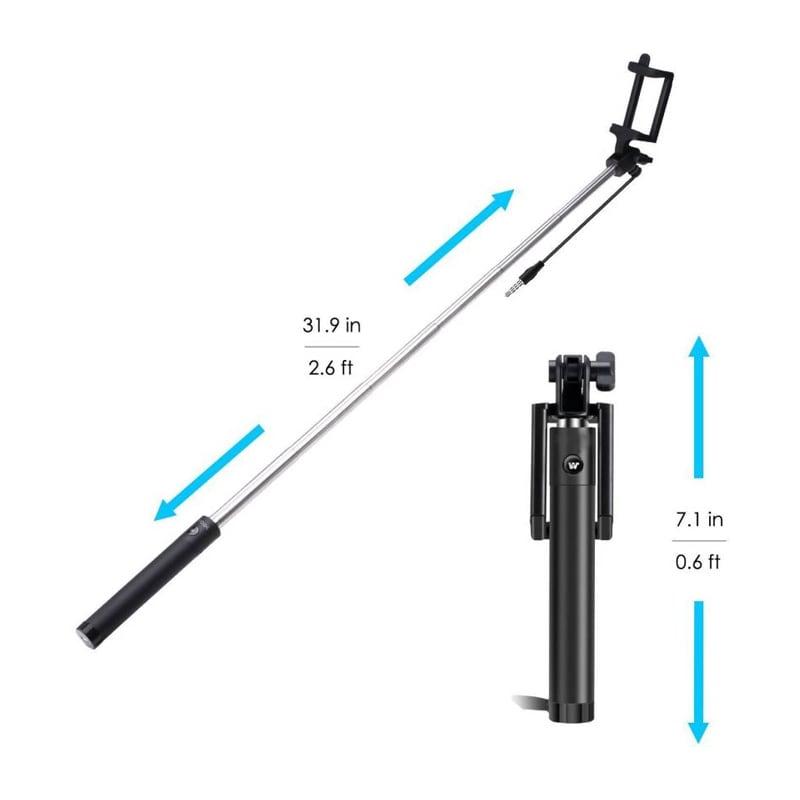 Buy Shutterbugs Premium Selfie Stick Monopod With Easy Aux Black online