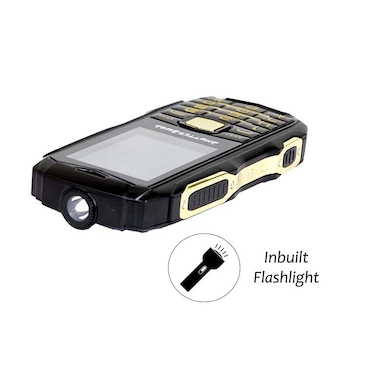 Shutterbugs Rugged Mobile With Power Bank Inbuilt Flashlight With Waterproof, Dust/Shockproof (Black, 64MB) Price in India