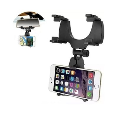 ShutterBugs Universal Car Rear View Mirror Mount Holder Car Accessory Mount Kit Black Price in India