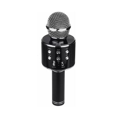 ShutterBugs WS-858 Wireless Handheld Bluetooth Mic with Bluetooth Speaker Audio Recording & Karaoke Black Price in India