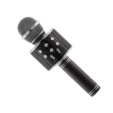 ShutterBugs WS-858 Wireless Handheld Bluetooth Mic with Bluetooth Speaker Audio Recording & Karaoke Black Price in India