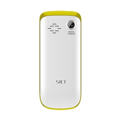 SICT F19 1.77 Inch Display, Camera,Expandable Upto 8GB (White and Yellow) Price in India