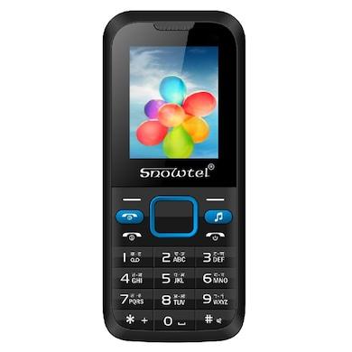 Snowtel S-20 True Dual Sim Feature Phone (Black and Blue) Price in India