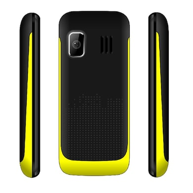 Snowtel S-20 True Dual Sim Feature Phone (Black and Yellow) Price in India