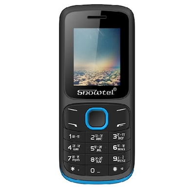 Snowtel S-20 Venus Dual Sim Feature Phone (Black and Blue) Price in India