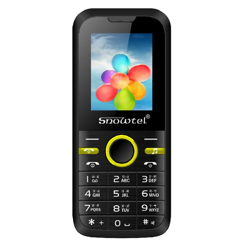 snowtel s 20 wiko dual sim feature phone black and yellow. Black Bedroom Furniture Sets. Home Design Ideas